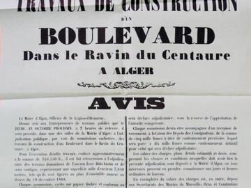 Adjudication des travaux de construction d'un boulevard dans le Ravin du Centaure