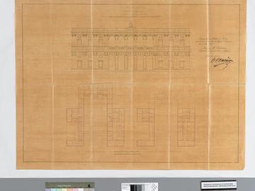 Étude de projet du palais de justice d'Alger