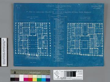 Plan du palais de justice d'Alger