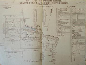 Quartier général U du XIXe corps d'armée. Dépendances.