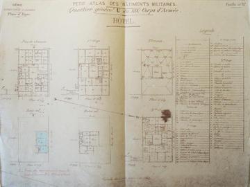 Quartier général U du XIXe corps d'armée. Hôtel.