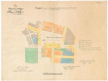 Plan d'alignement de la place de la cathédrale