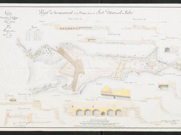 Plan du fort de Mers-el-Kebir