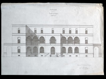 Projet pour l'archevêché, façade principale