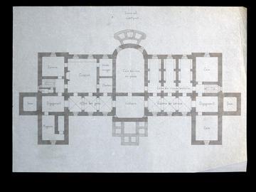 Projet pour l'archevêché, plan du sous-sol