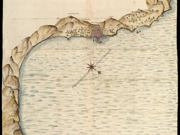 Plan de la ville d'Alger et de sa baie en 1617