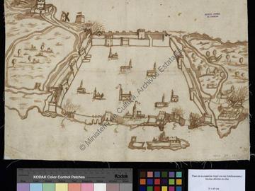 Plan de la ville d'Alger avec ses fortifications et ses ouvertures