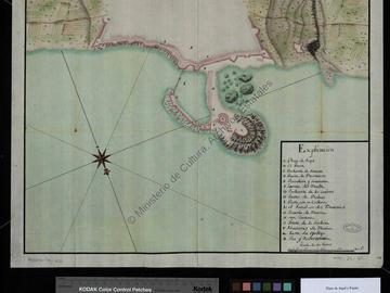 Plan de la ville d'Alger et du port