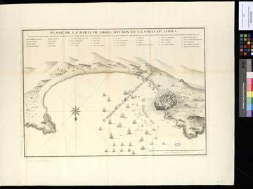 Carte de la baie d'Alger