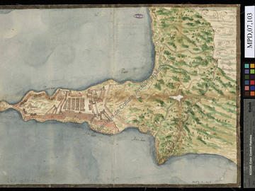 Mers el-Kebir, fortifications, plan de 1574