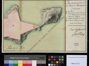 Plan de Mers el-Kebir de 1752