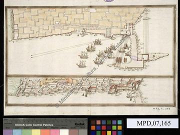 Plan d'Alger et de son port
