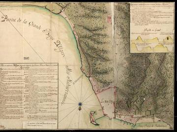 Plan de la ville et environs d'Alger où sont compris les châteaux, forts et batteries et environs – 1