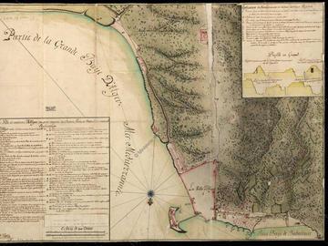 Plan de la ville et environs d'Alger où sont compris les châteaux, forts et batteries et environs – 2