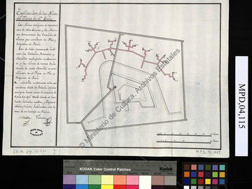 Description des mines du fort San Luis d'Oran