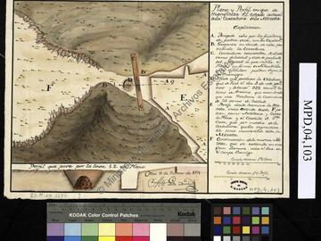 Oran, fortifications, plans, 1771