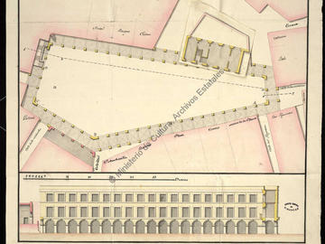 Projet pour la place de la Perle à Oran de 1771