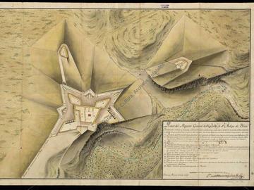 Plan du projet général du château fort de San Felipe d'Oran