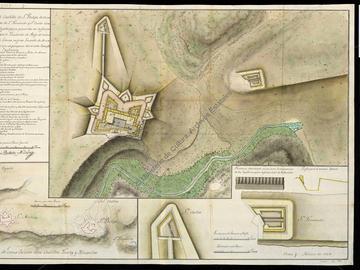Plan des forts de San Felipe, San Fernando et San Carlos d'Oran