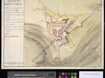 Plan du château fort de San Felipe d'Oran