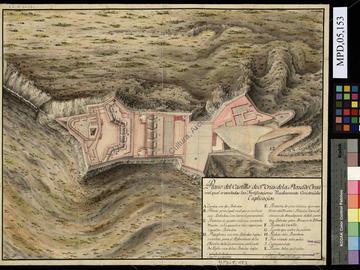 Plan du château fort de Santa Cruz d'Oran