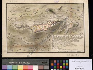 Plan du projet du château fort de Santa Cruz à Oran