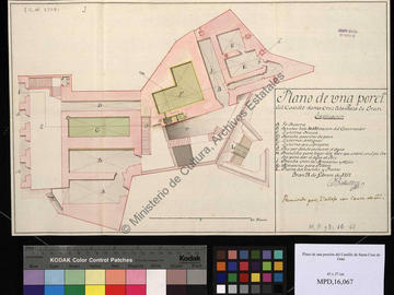 Plan partiel du château fort d'Oran