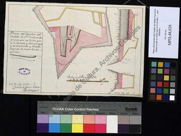 Plan de la pointe du château fort de Santa Cruz d'Oran