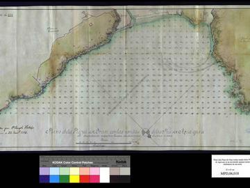 Plan de la baie d'Oran avec le relevé de la profondeur du mouillage