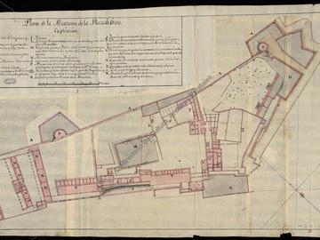 Plan de la citadelle d'Oran