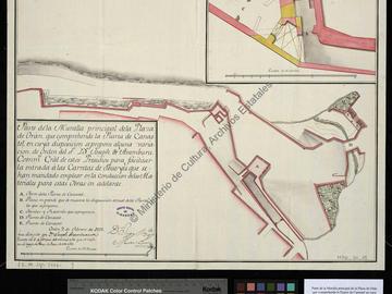 Plan partiel des murailles d'Oran dans la partie de la porte de Canastel