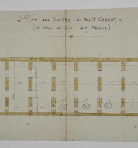 Plan des voûtes du boulevard Carnot