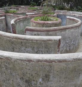 Labyrinthe jardin d'enfants du jardin de Prague
