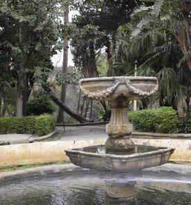 Bassin et fontaine du jardin de Prague