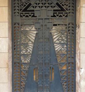 Porte de l'ancienne église Saint-Augustin