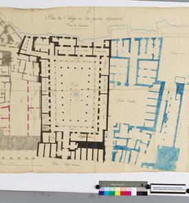 Plan du collège et des parties adjacentes