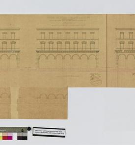 Projet de façade pour les trois îlots de la place du Gouvernement