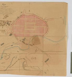 Plan d'alignement de la Cité Bugeaud (Bab-el-Oued)
