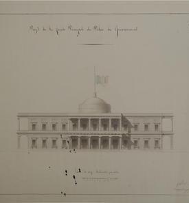 Projet de palais du Gouvernement sur la nouvelle place d'Alger