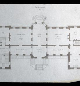 Projet pour l'archevêché, plan du rez-de-chaussée