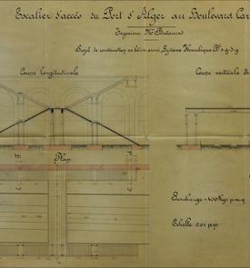 Projet d'escalier d'accès au port