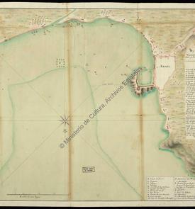 Plan d'Alger avec ses batteries en 1775