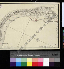 Plan de la côte d'Alger