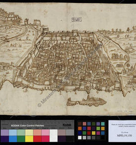 Plan d'Alger comprenant le port, l'enceinte, la ville et les forts extérieurs