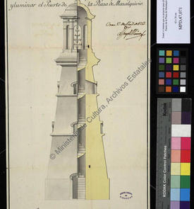 Fanal ou lanterne proposée pour l'éclairage du port de la place forte de Mers el-Kebir