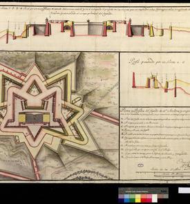 Plan du château de San Andrés de 1741