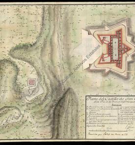 Plan du château fort de San Andrés d'Oran en 1736