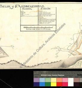 Plan des châteaux de San Felipe et de San Andrés, avec les galeries de mines