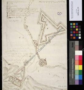 Plan d'un château fort non identifié Oran