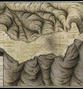 Carte topographique des hauteurs environnantes d'Oran